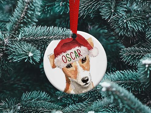 Jack Russell Tree Ornament