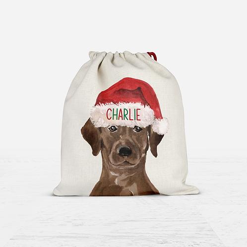Labrador Christmas Sack