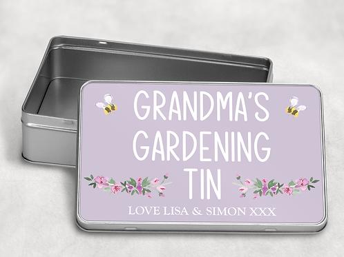 Grandma's Gardening Tin