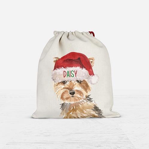Yorkshire Terrier Christmas Sack