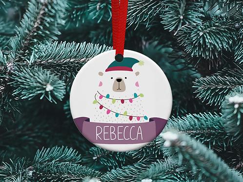 Polar Bear Tree Ornament