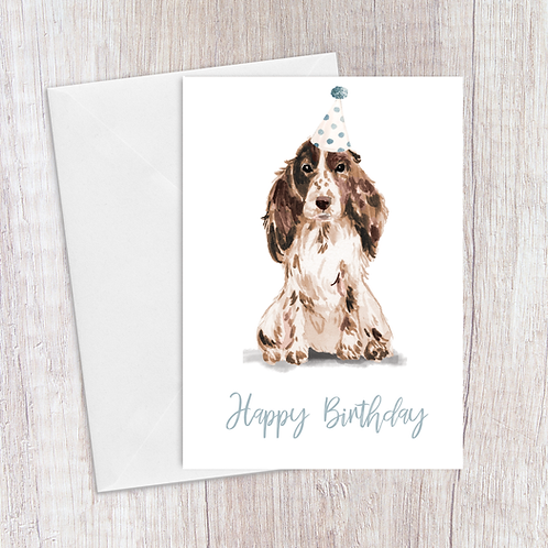 Spaniel Birthday Card