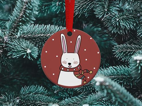 Rabbit Christmas Tree Ornament