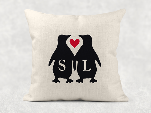 Penguins In Love Cushion