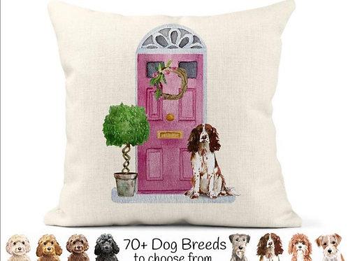 Watercolour Dog Doorstep Cushion