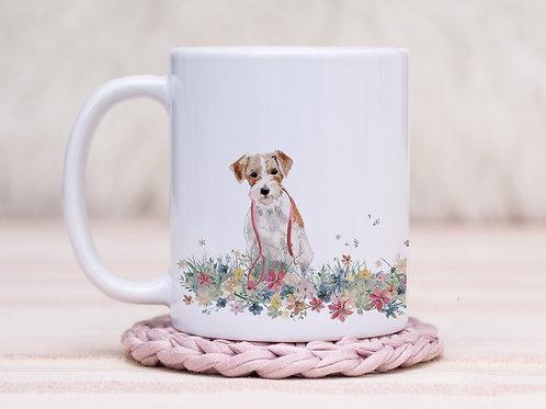 Jack Russell Floral Wrap Mug