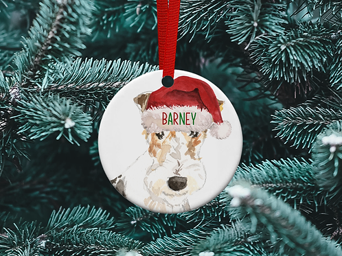 Wire Fox Terrier Christmas Tree Ornament