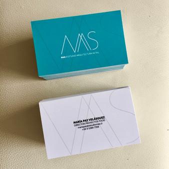 Tarjetas de presentación MAS