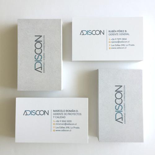 Tarjetas de presentación Adiscon