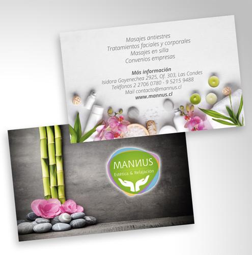 Tarjeta de presentación Mannus Spa