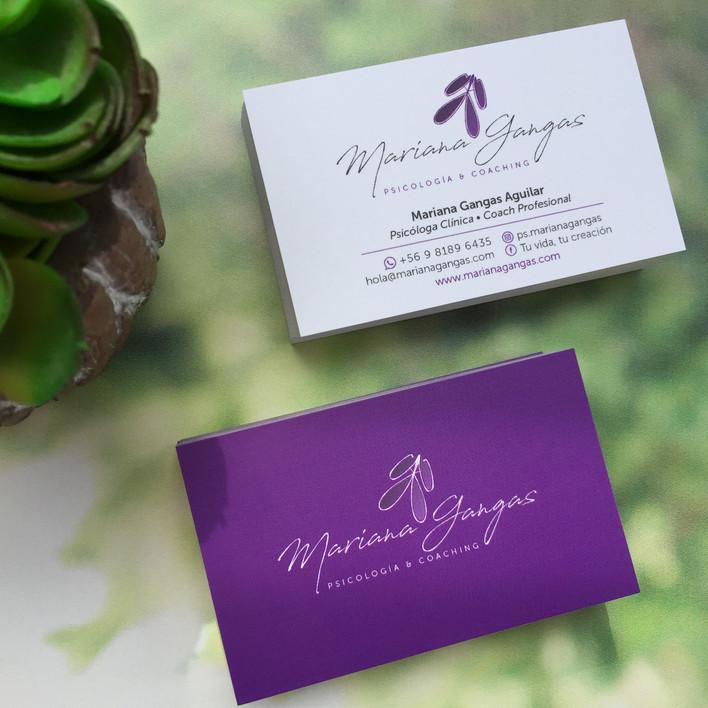 Tarjetas de presentación Mariana
