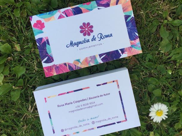Tarjeta de presentación Magnolia de Roma
