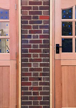 Replace solid panel doors.