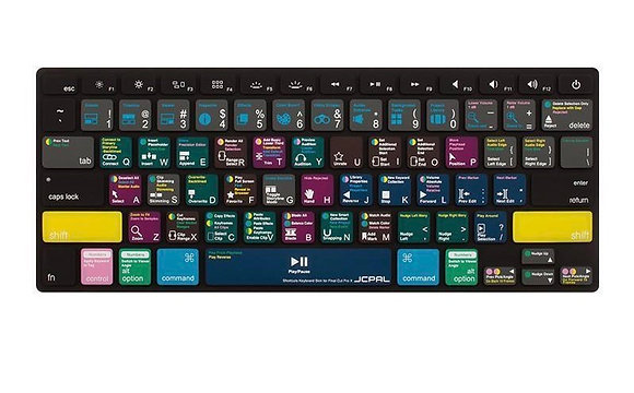 JCPAL Photoshop shortcuts keyboard protector(EU-layout,Spanish,Silicone,for MBP)