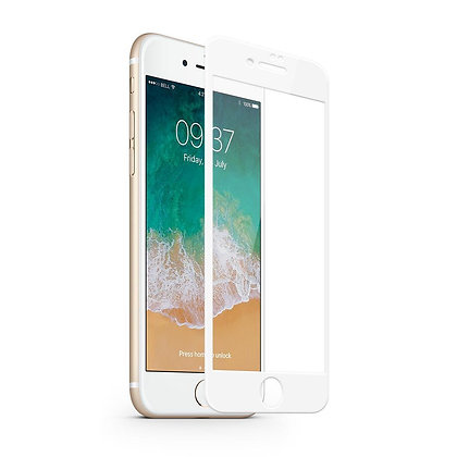 JCPAL Armor Premium 3D Glass Screen Protector (0.26mm;White) iPhone 8 Plus