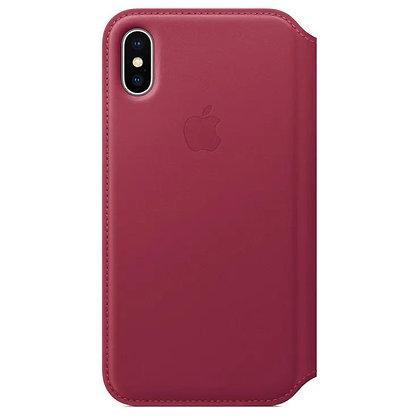 iPhone X Leather Folio case