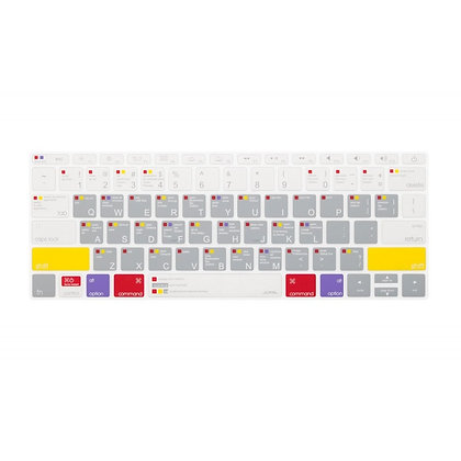 JCPAL MacBook pro MacOS Shortcuts keyboard protector(EU-Layout,spanish,silicone)