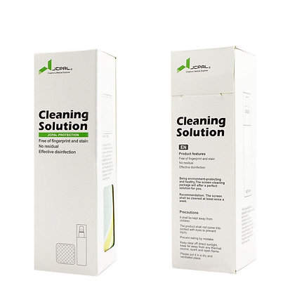 JCPAL Cleaning Solution (Non-alcoholic Cleaner,90ML,Micro-Fiber cloth included)