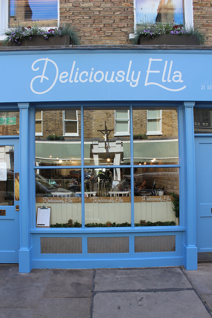 Hand painted shop front fascia for cafe