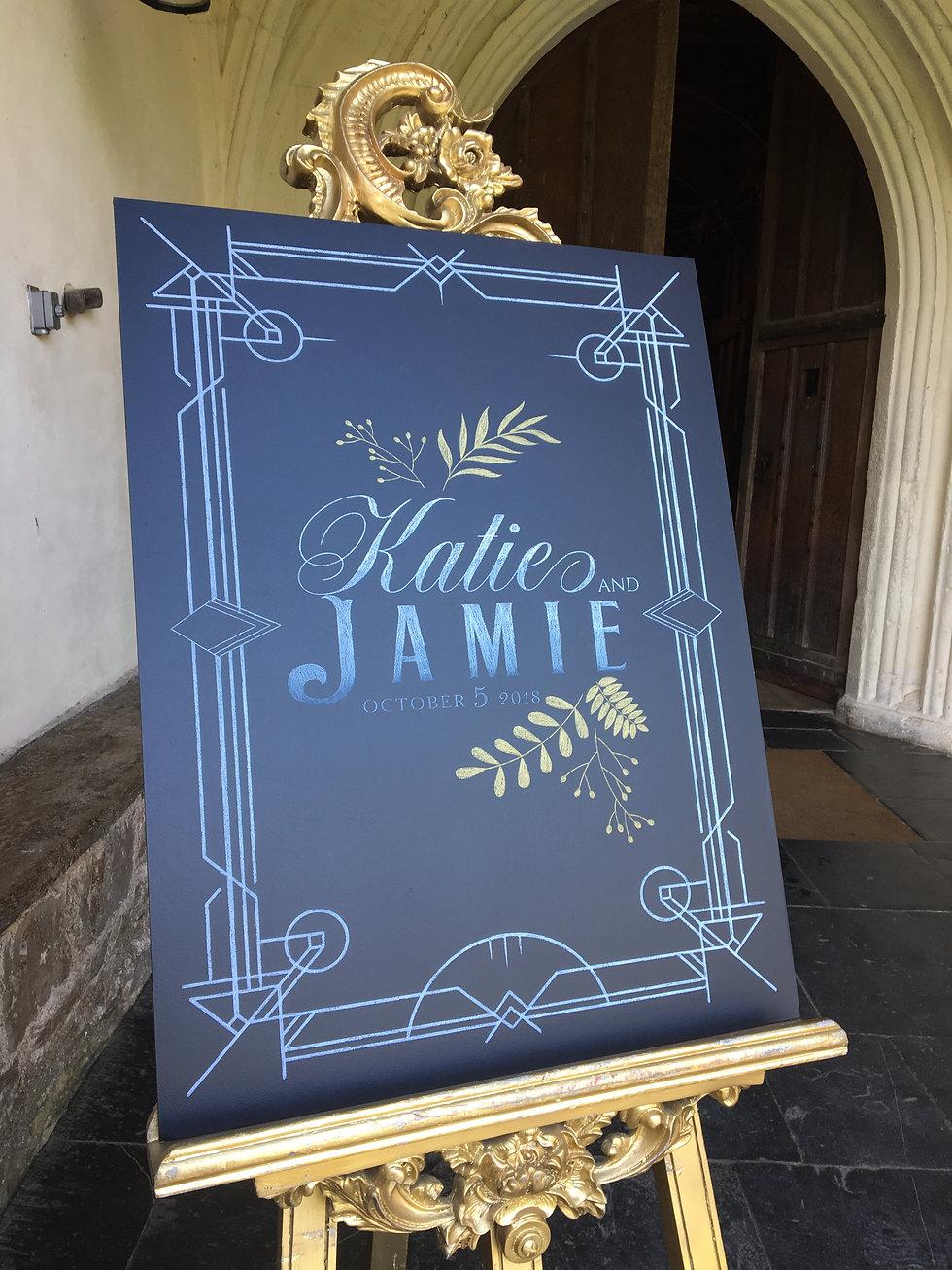 bespoke wedding chalkboard