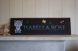 Child name board