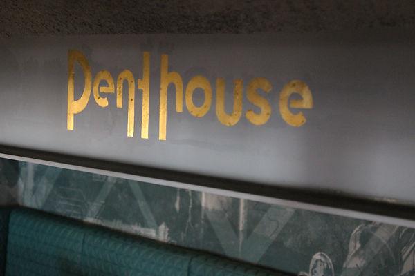 hand gilded internal bar signage in gold leaf