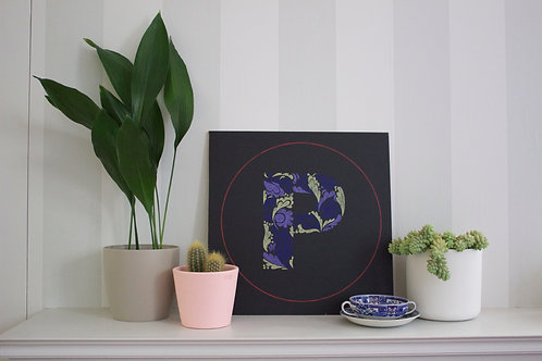 Botanical circle letter