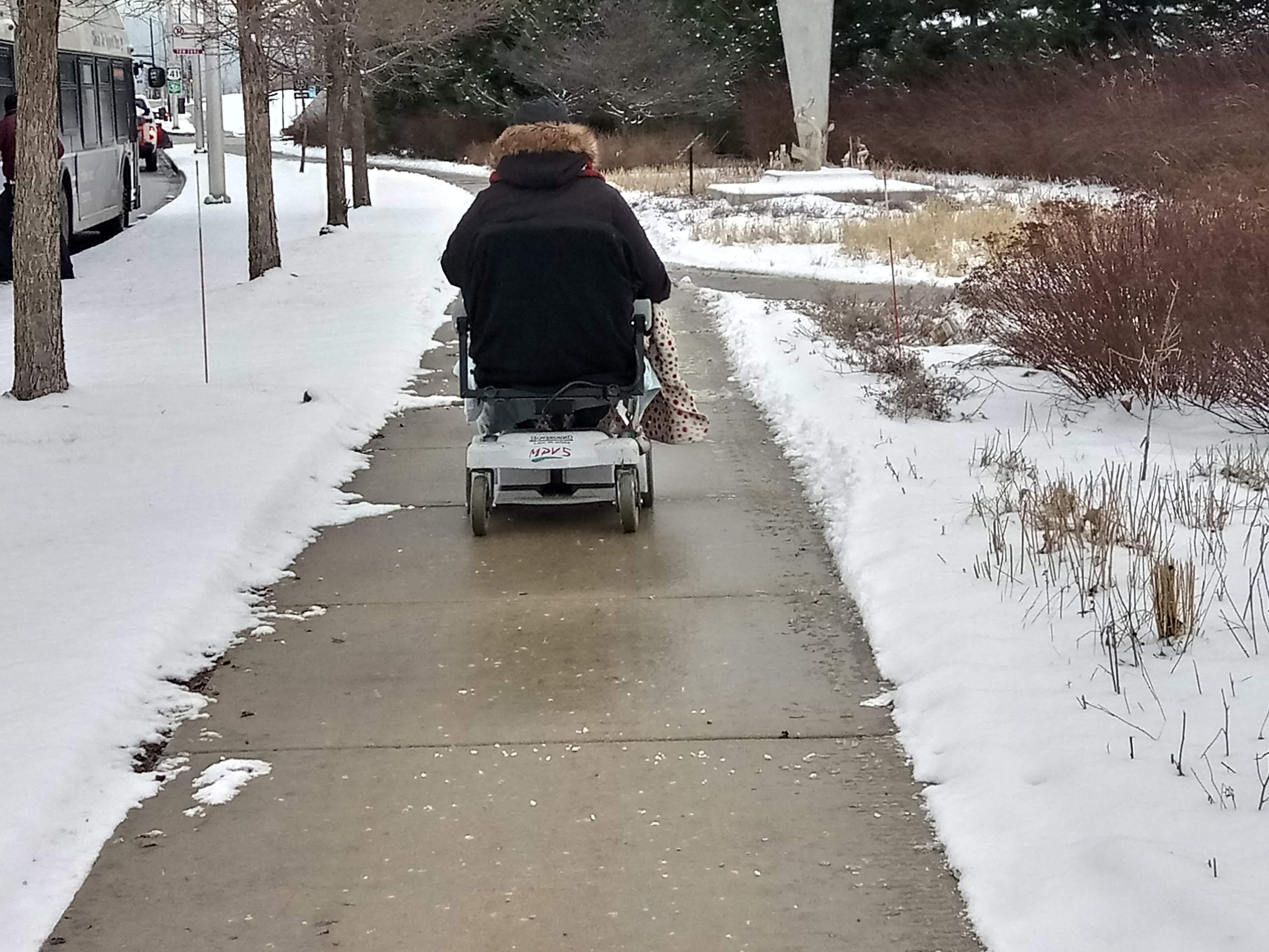 Sidewalk Snow Cleaning