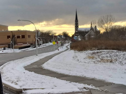 Sidewalk Snow Path