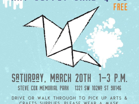 Free Art Supplies this Saturday at Steve Cox Memorial Park