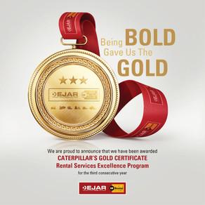 EJAR Receives The Gold!