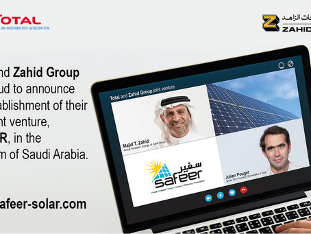 Total and Zahid Group join forces to develop solar energy in Saudi Arabia