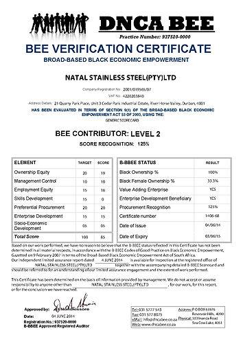 NATAL-STAINLESS-STEEL-BEE-Certificate-20