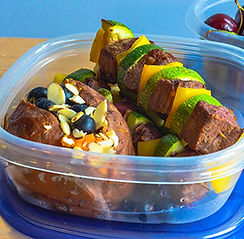 steak kabob with sweet patatoe