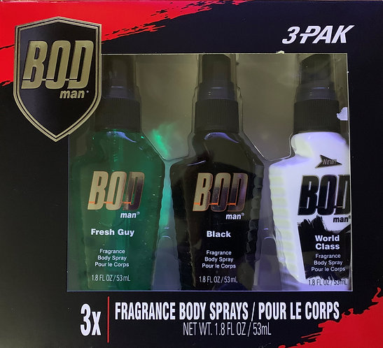 Bod Body Spray 3 Pak