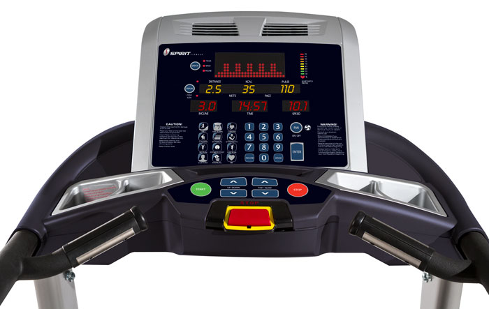 spirit fitness-ct850-treadmill console