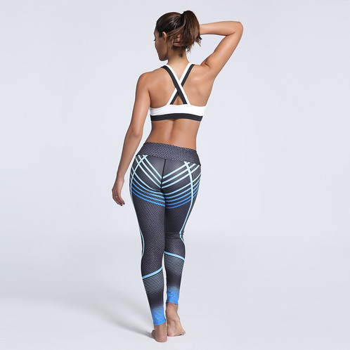 aef3c54e3f34e Fitness Clothing Women Elastic Sporting Leggings Gradient Color Stripe  Print Workout Legging Push Up Leggins. Material:Polyester,Spandex plus sizes  ...