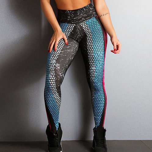 Dont Stop Honeycomb Letter Printed yoga pants