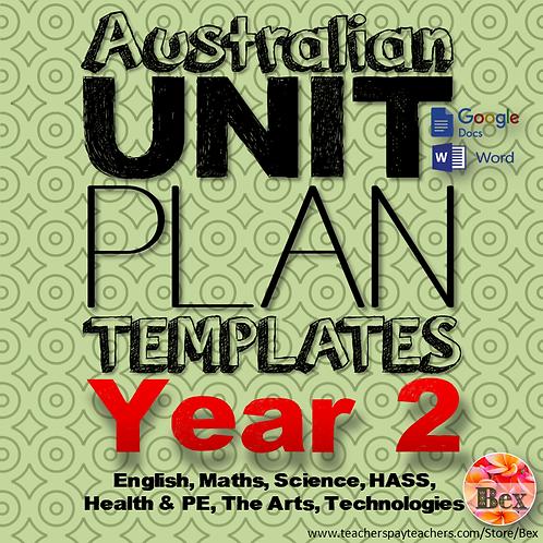 Australian Unit Plan Templates - Year 2
