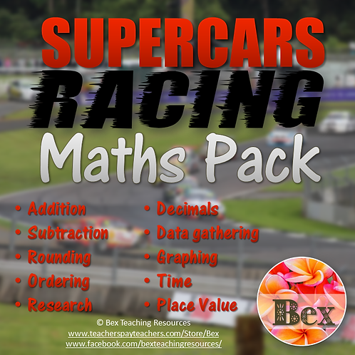 SuperCars Racing Maths Pack