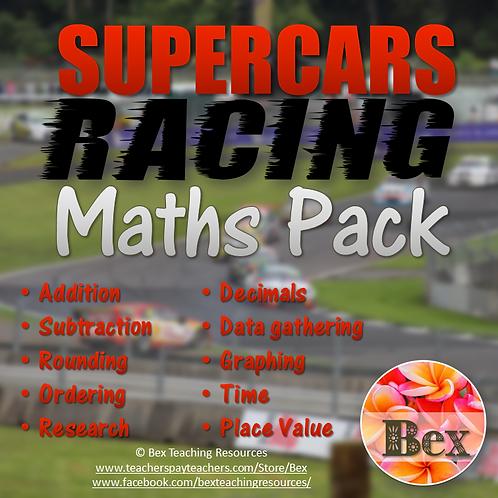 SuperCars Racing Maths Pack