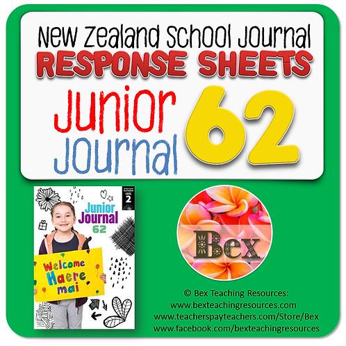 NZ Junior Journal 62 Reading Responses