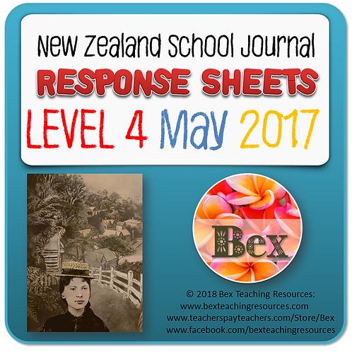 NZ School Journal Responses - Level 4 May 2017 NZ School Journal Respons