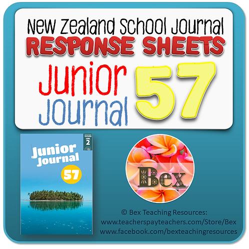 NZ Junior Journal 57 Reading Responses