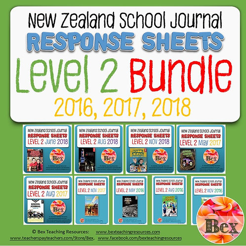 New Zealand School Journal Level 2 - 2016, 2017, 2018 Bundle