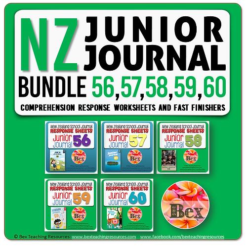 NZ Junior Journal Bundle 56-60 - Reading Responses