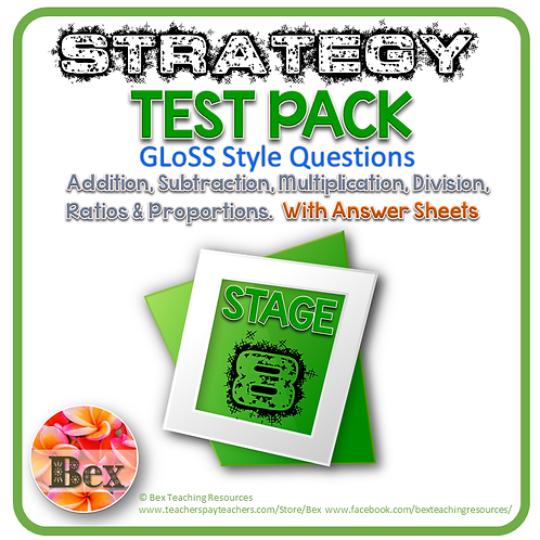 Strategy Tests Pack - Stage 8 - Gloss Style Questions - New Zealand