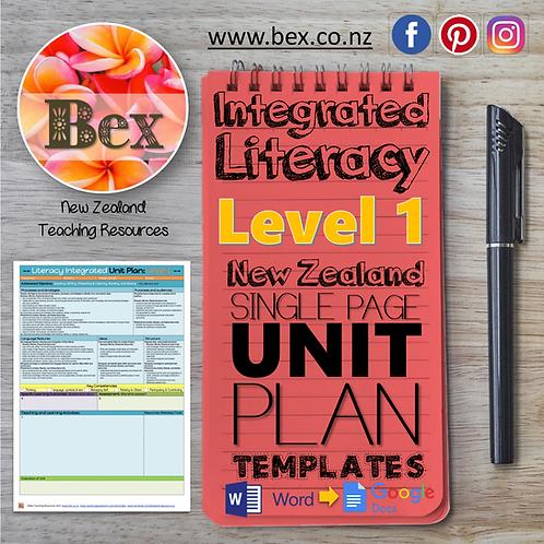 New Zealand Integrated Literacy Unit Plan Template (Level 1 NZC)