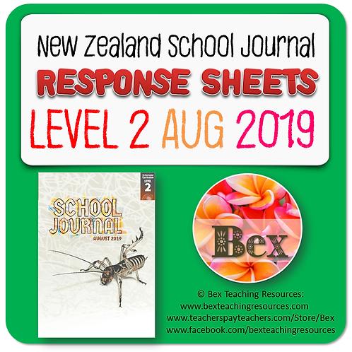NZ School Journal Responses - Level 2 August 2019