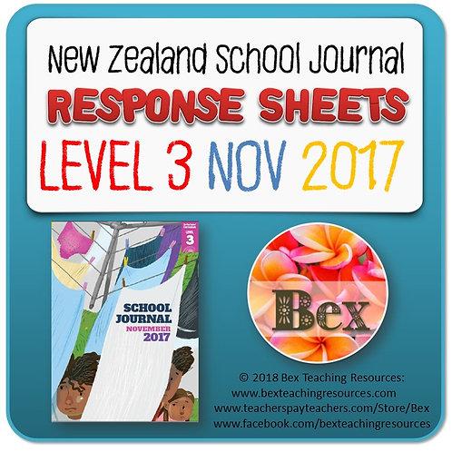 NZ School Journal Responses - Level 3 November 2017